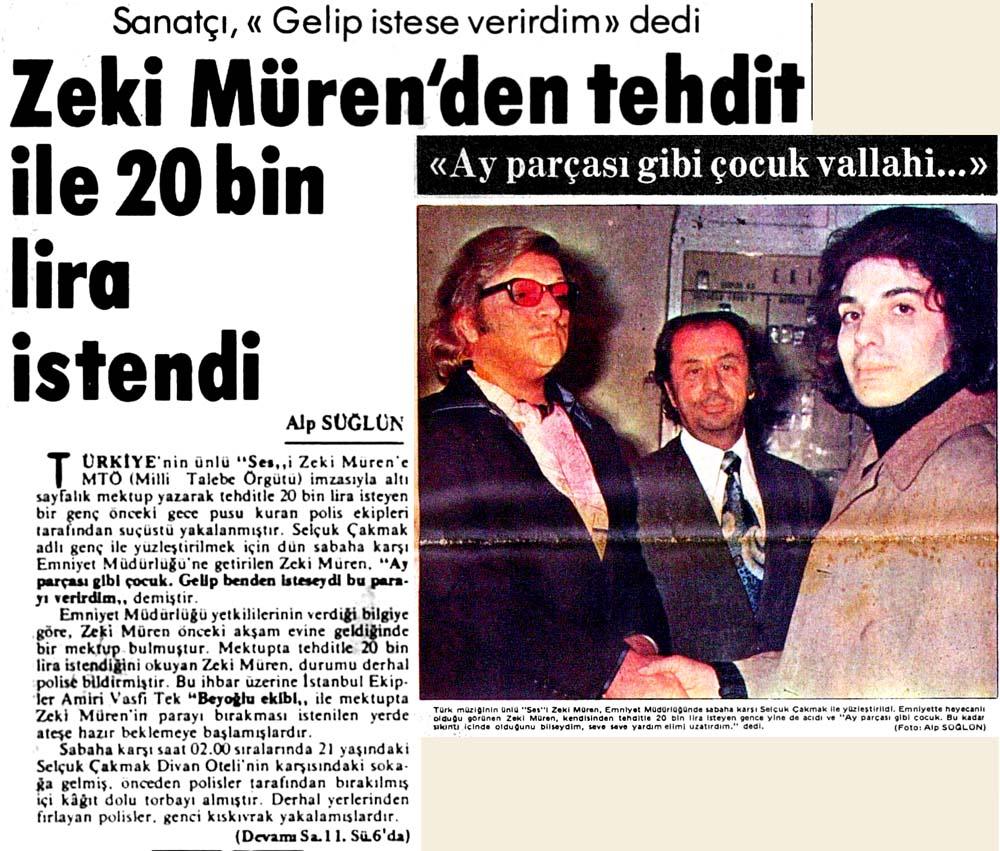 Zeki Müren'den tehdit ile 20 bin lira istendi