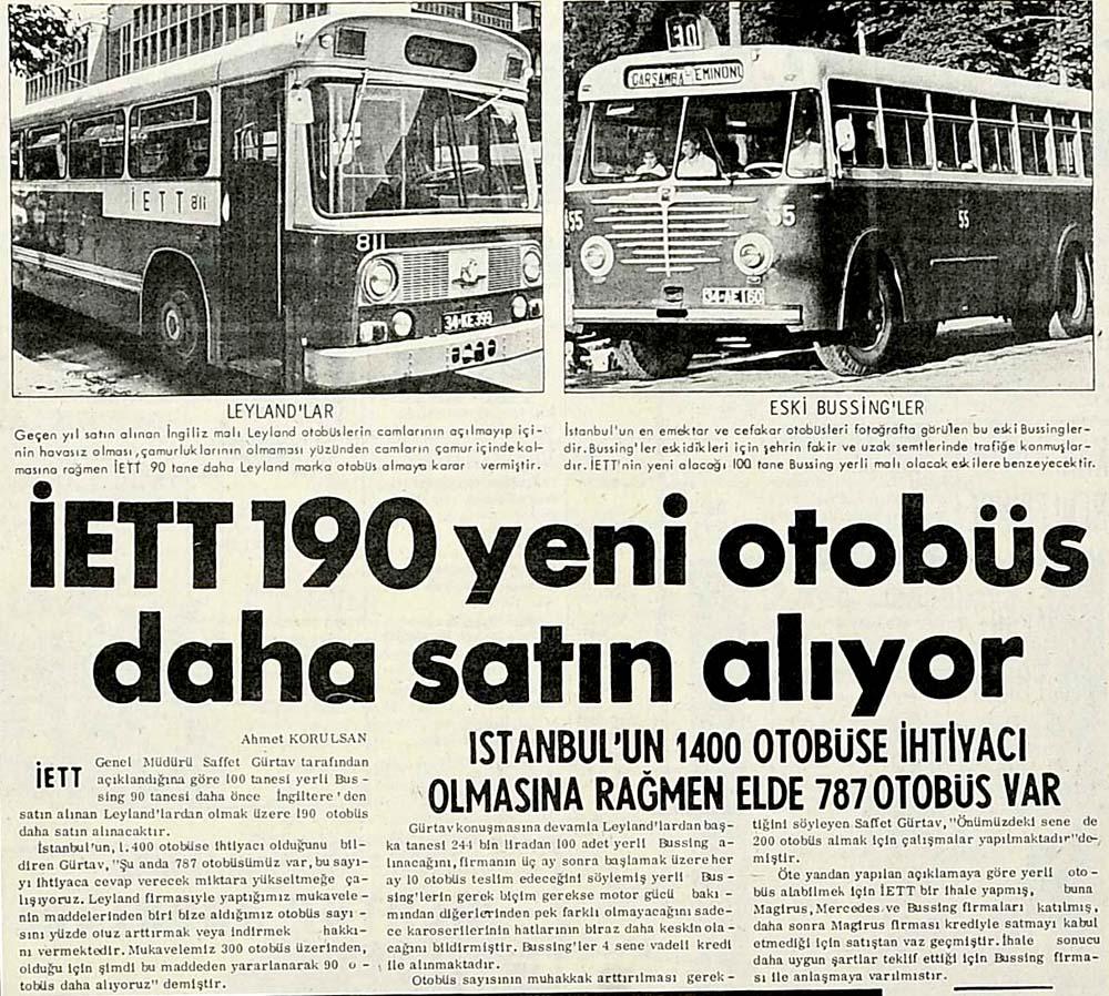 İETT 190 yeni otobüs daha satın alıyor