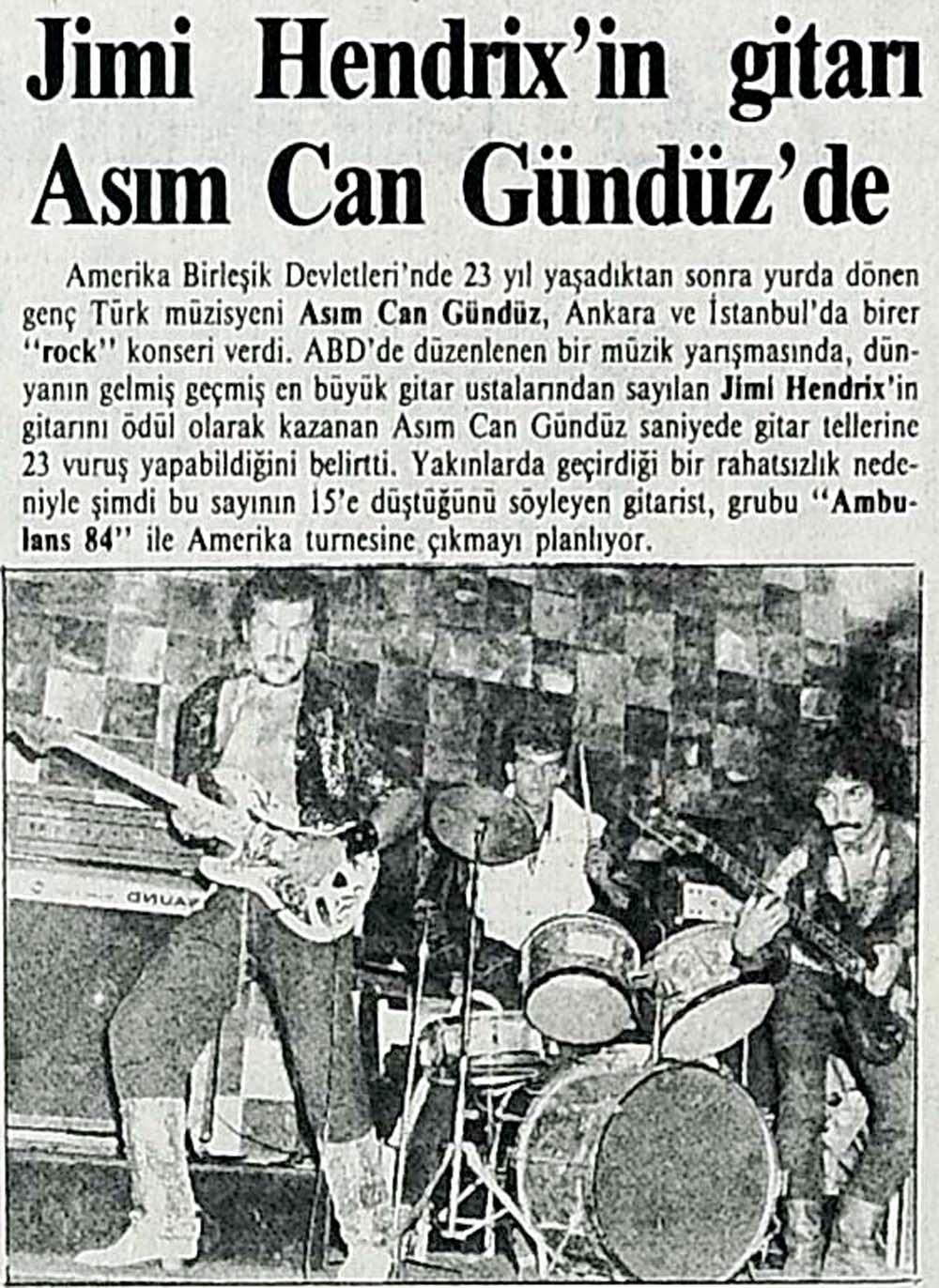 Hendrix'in gitarı Asım'da