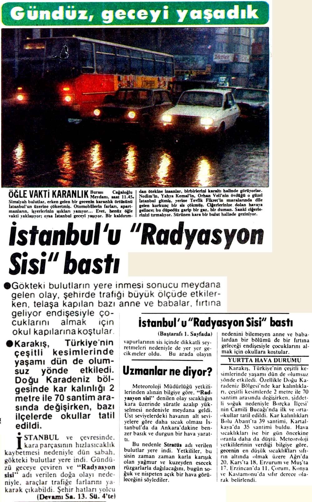 "İstanbul'u ""Radyasyon Sisi"" bastı"