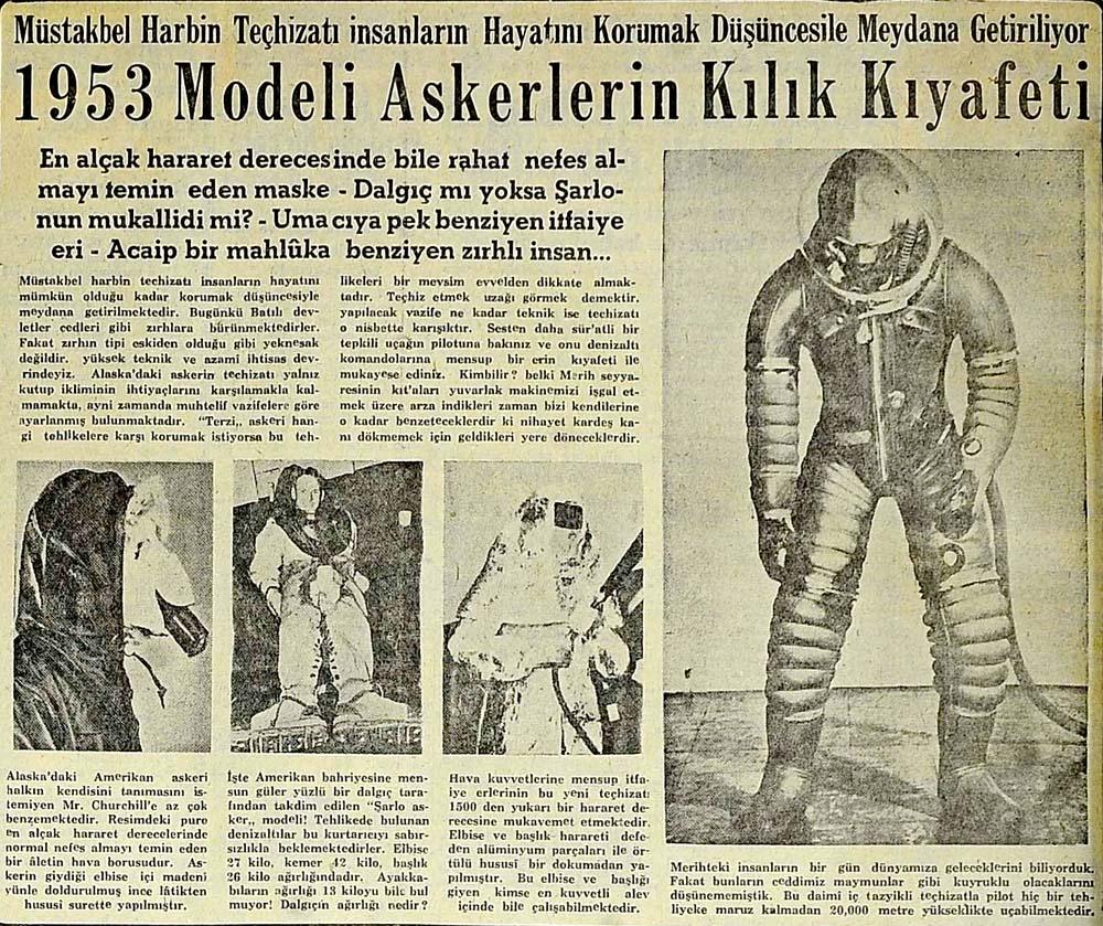 1953 Modeli Askerlerin Kılık Kıyafeti