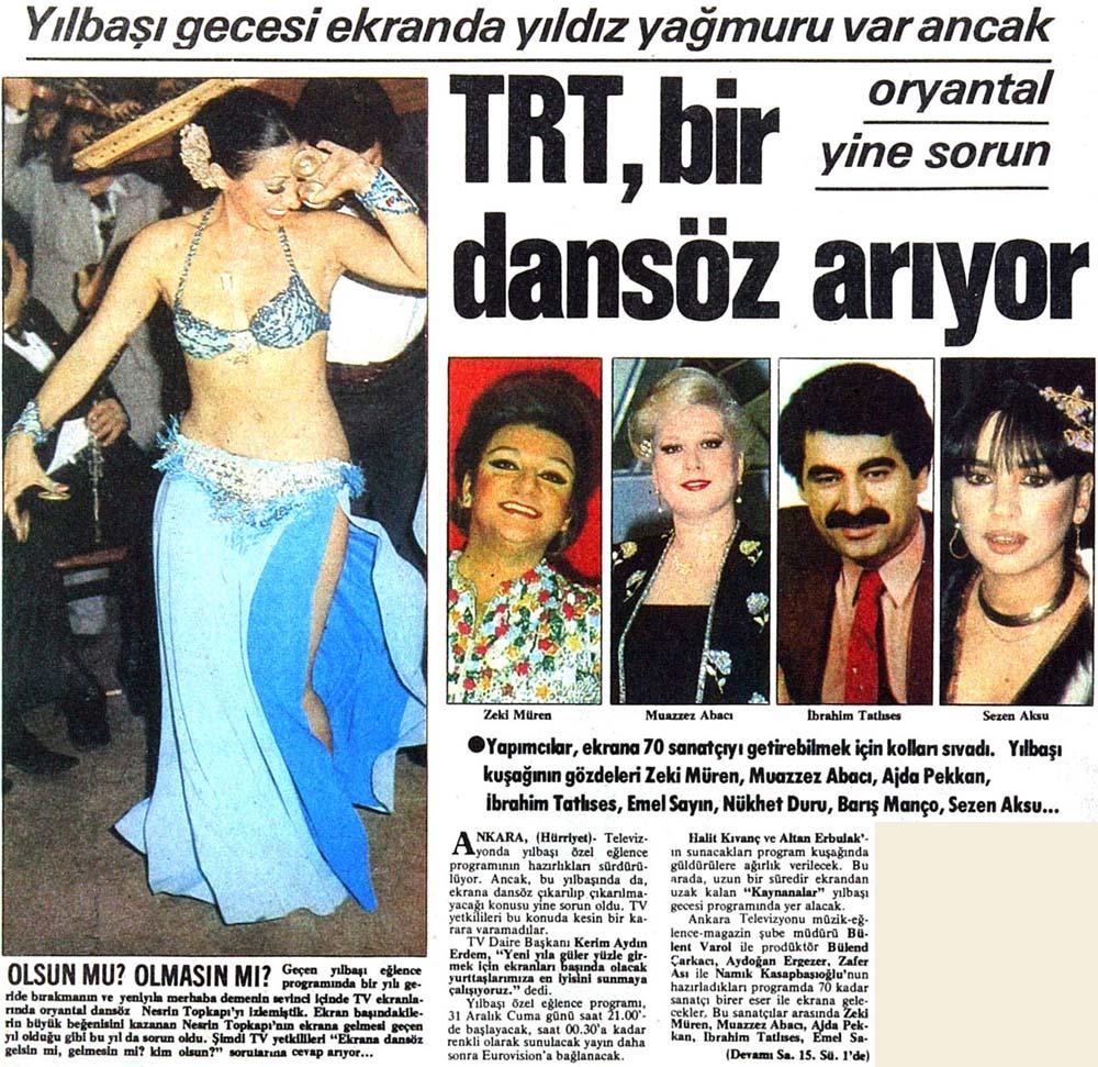 TRT, bir dansöz arıyor
