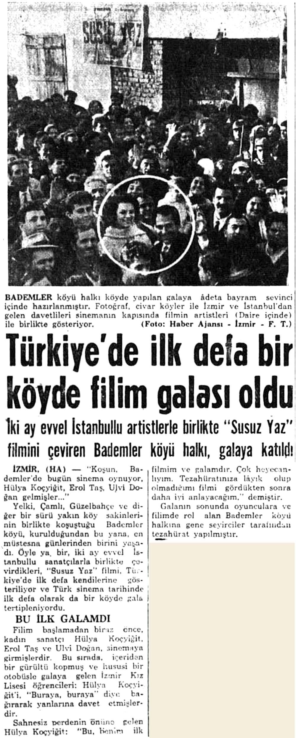Türkiye'de ilk defa bir köyde filim galası oldu