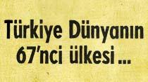 Türkiye Dünyanın 67'nci ülkesi...
