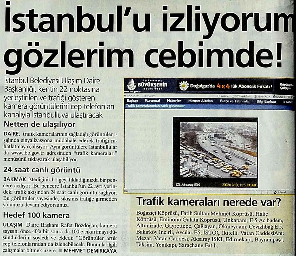İstanbul'u izliyorum gözlerim cebimde!