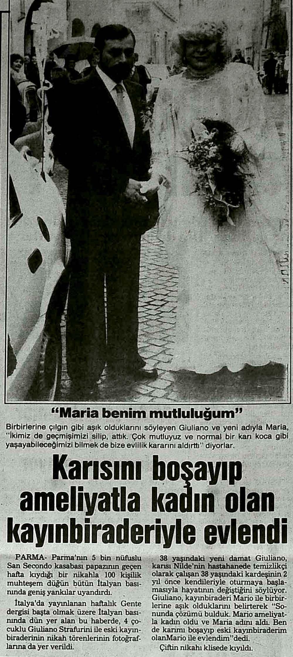 Karısını boşayıp ameliyatla kadın olan kayınbiraderiyle evlendi
