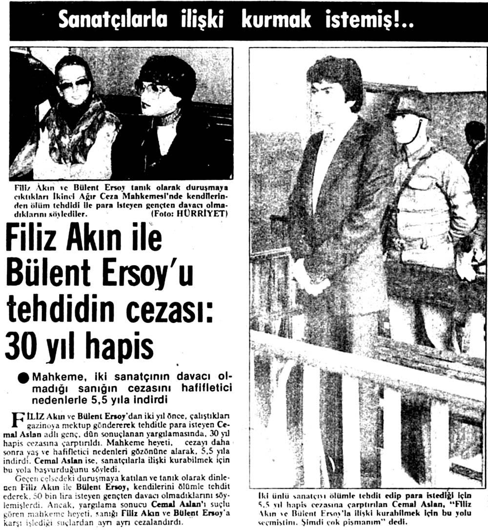Filiz Akın ile Bülent Ersoy'u tehdidin cezası: 30 yıl hapis