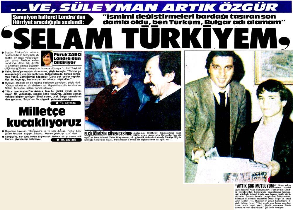 'Selam Türkiyem'