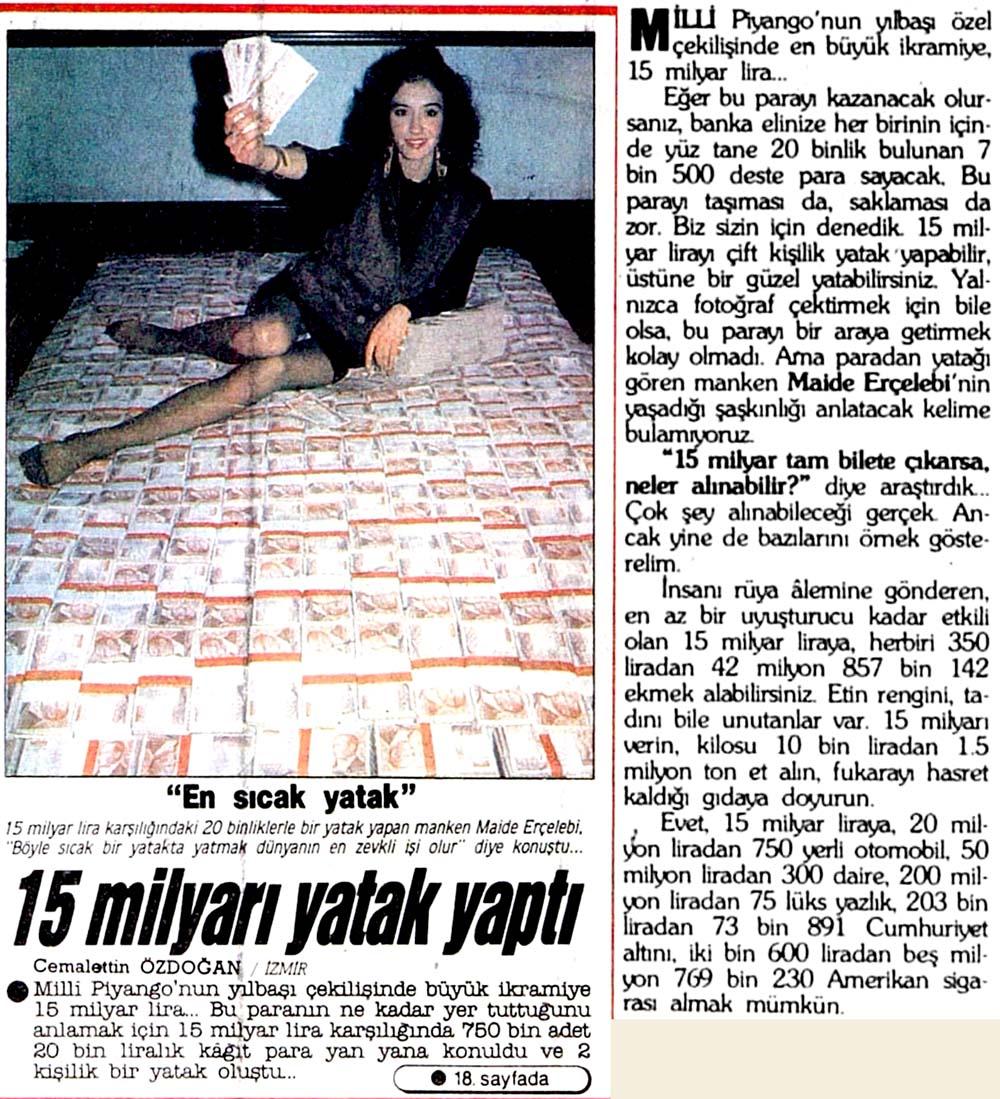 15 milyarı yatak yaptı