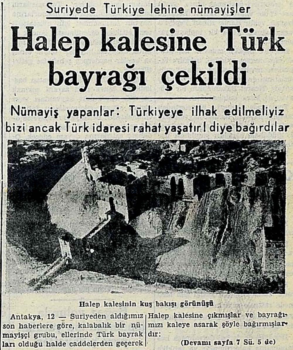 Suriyede Türkiye lehine nümayişler