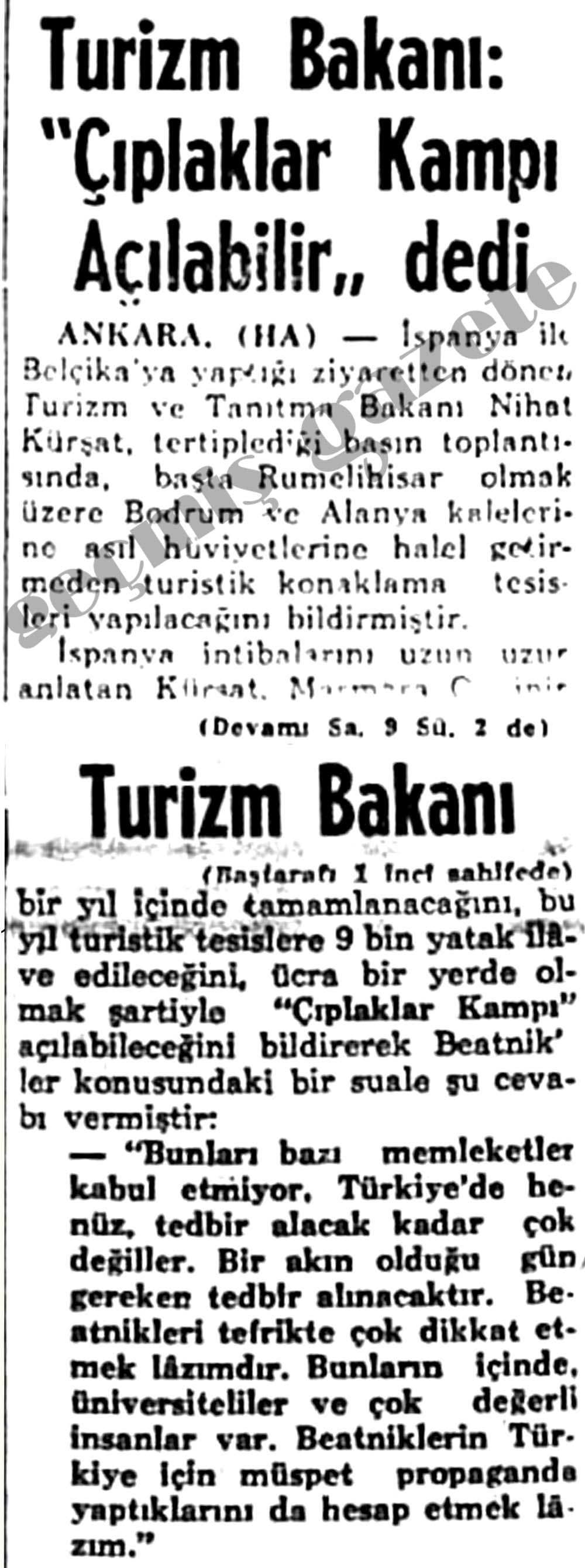 """Turizm Bakanı: """"Çıplaklar Kampı Açılabilir"""" dedi"""