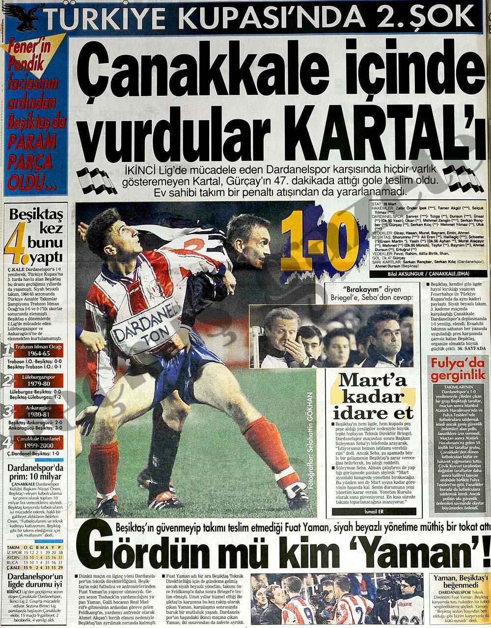 Türkiye Kupası'nda 2. şok: Çanakkale içinde vurdular Kartal'ı