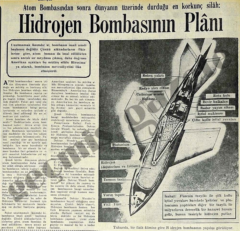 Hidrojen Bombasının Planı