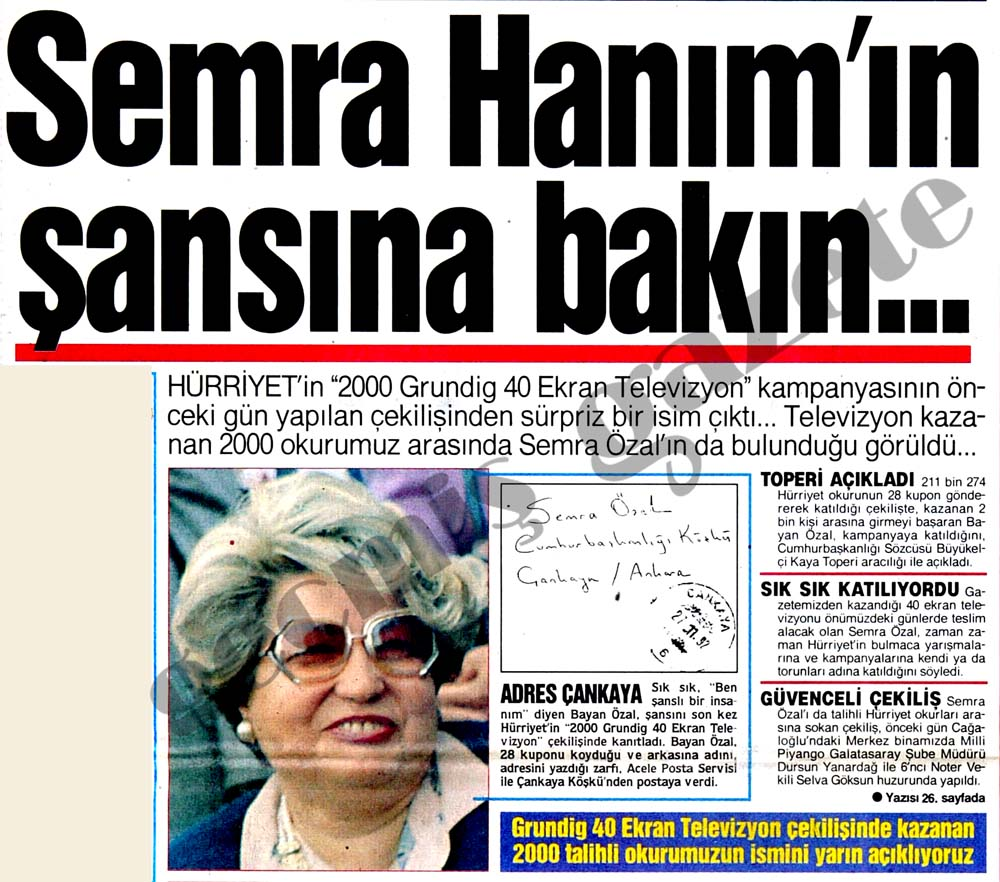 Semra Hanım'ın şansına bakın...