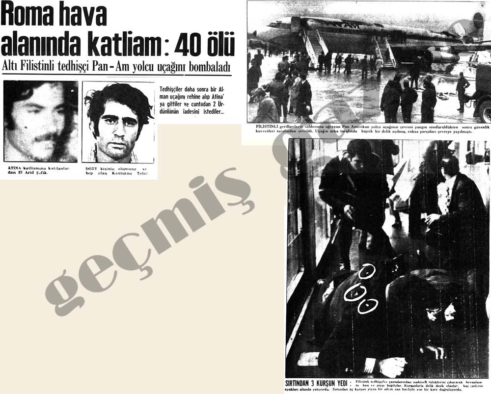 Roma hava alanında katliam: 40 ölü