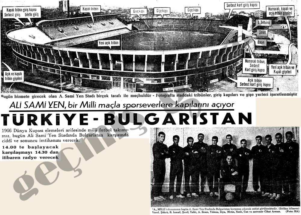 Ali Sami Yen, bir Milli maçla sporseverlere kapılarını açıyor Türkiye-Bulgaristan