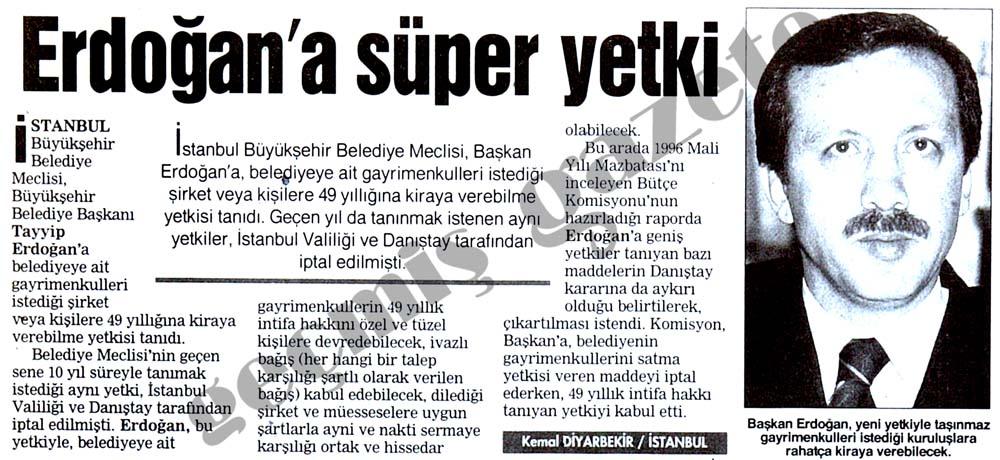 Erdoğan'a süper yetki