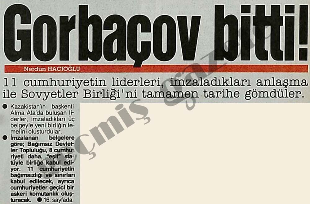 Gorbaçov bitti!