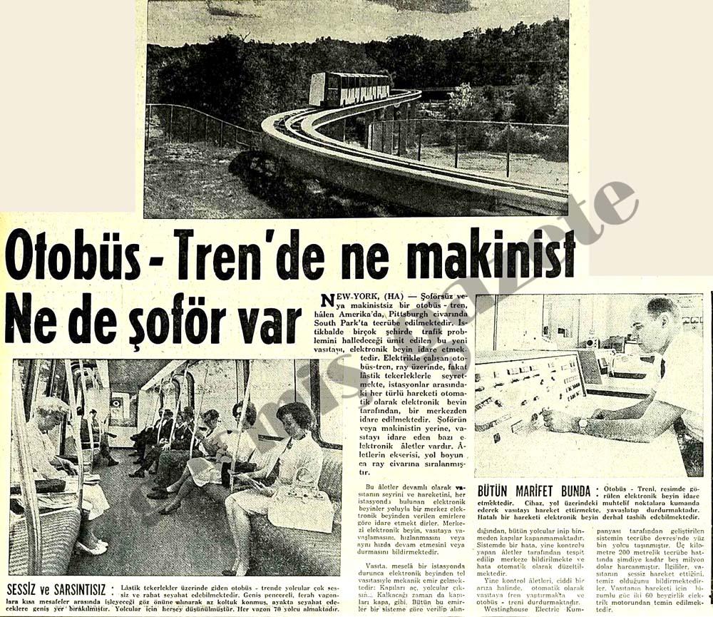 Otobüs-Tren'de ne makinist Ne de şoför var
