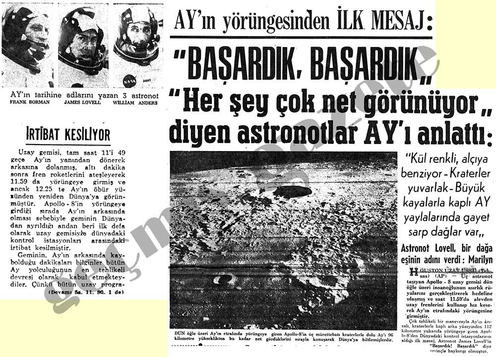 """Ay'ın yörüngesinden İlk Mesaj: """"Başardık, Başardık"""""""