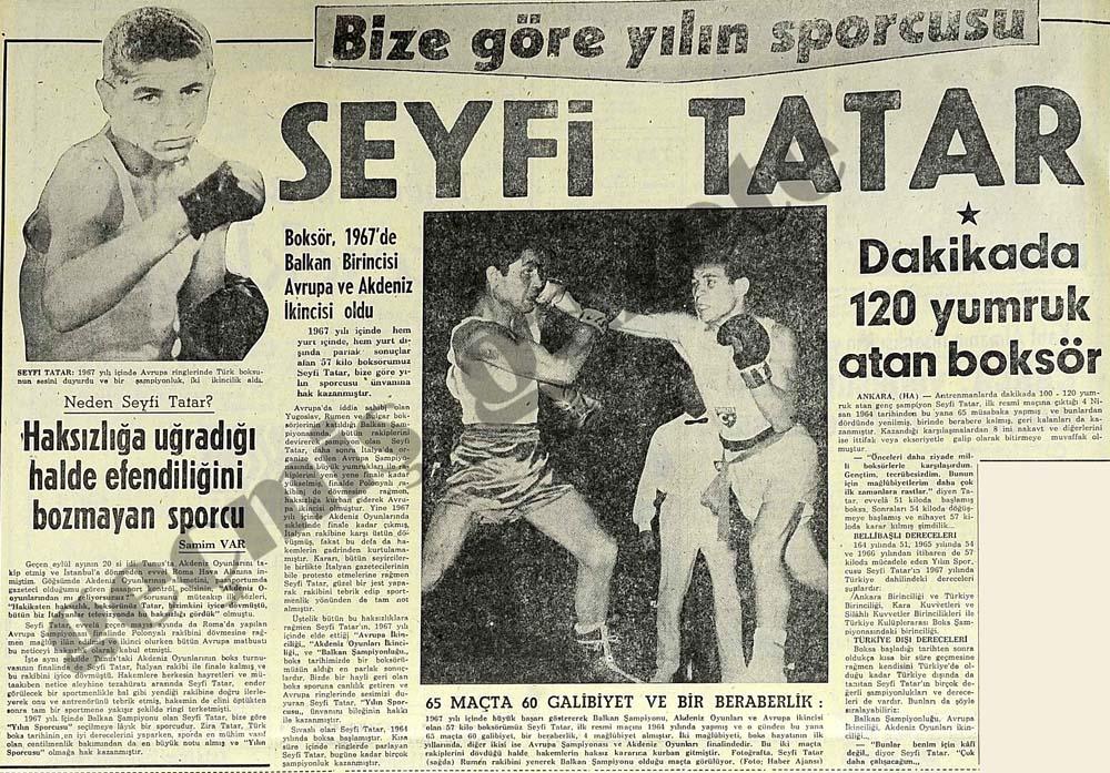 Bize göre yılın sporcusu Seyfi Tatar