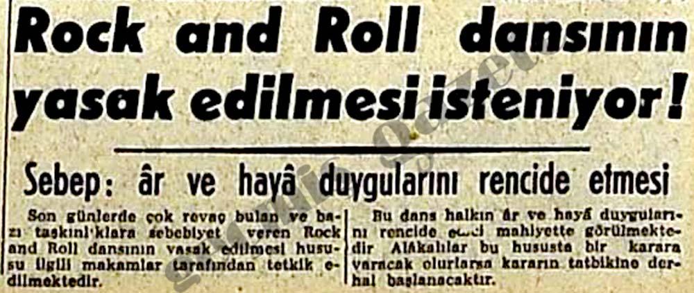 Rock and Roll dansının yasak edilmesi isteniyor!
