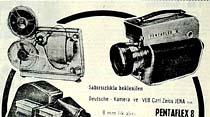 Diapozitif ve film projeksionu için Aspektar ve Werra fotoğraf makineleri gelmiştir