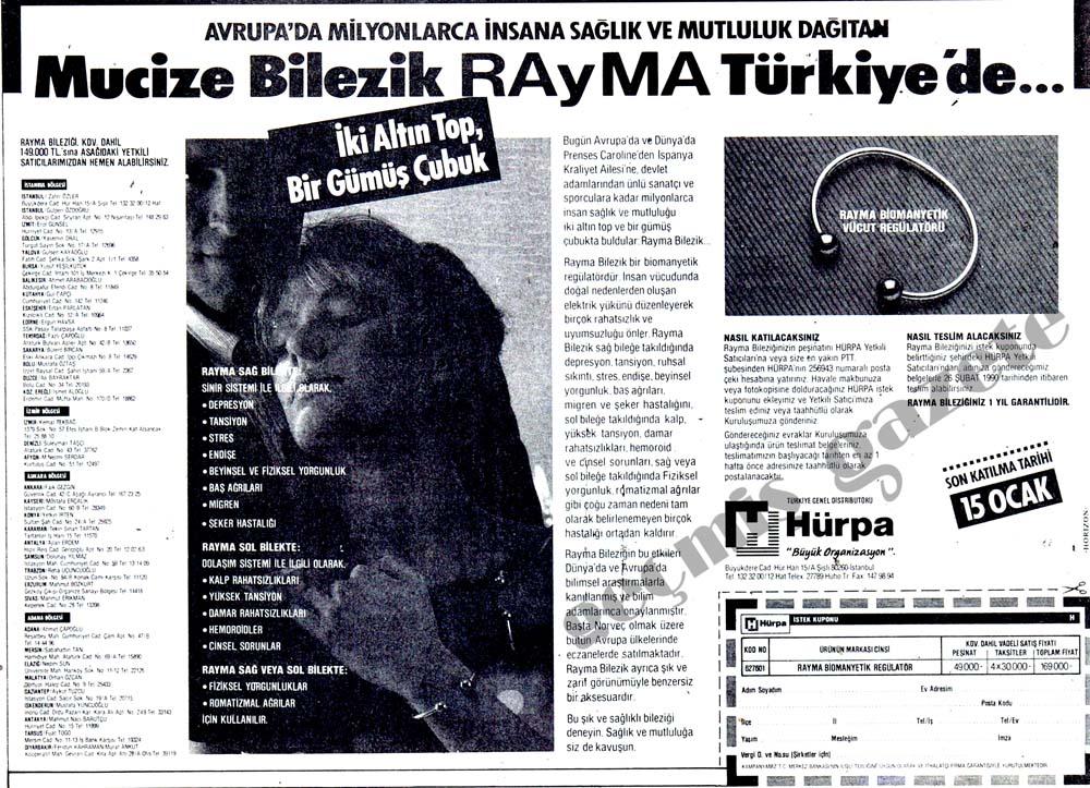 Mucize Bilezik RAyMa Türkiye'de...