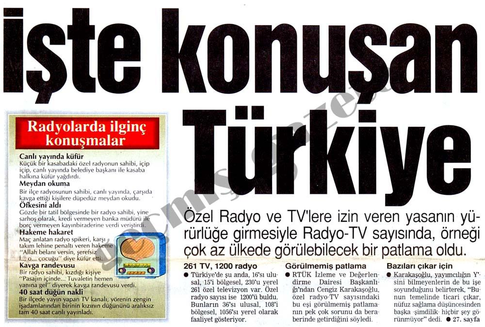 İşte konuşan Türkiye