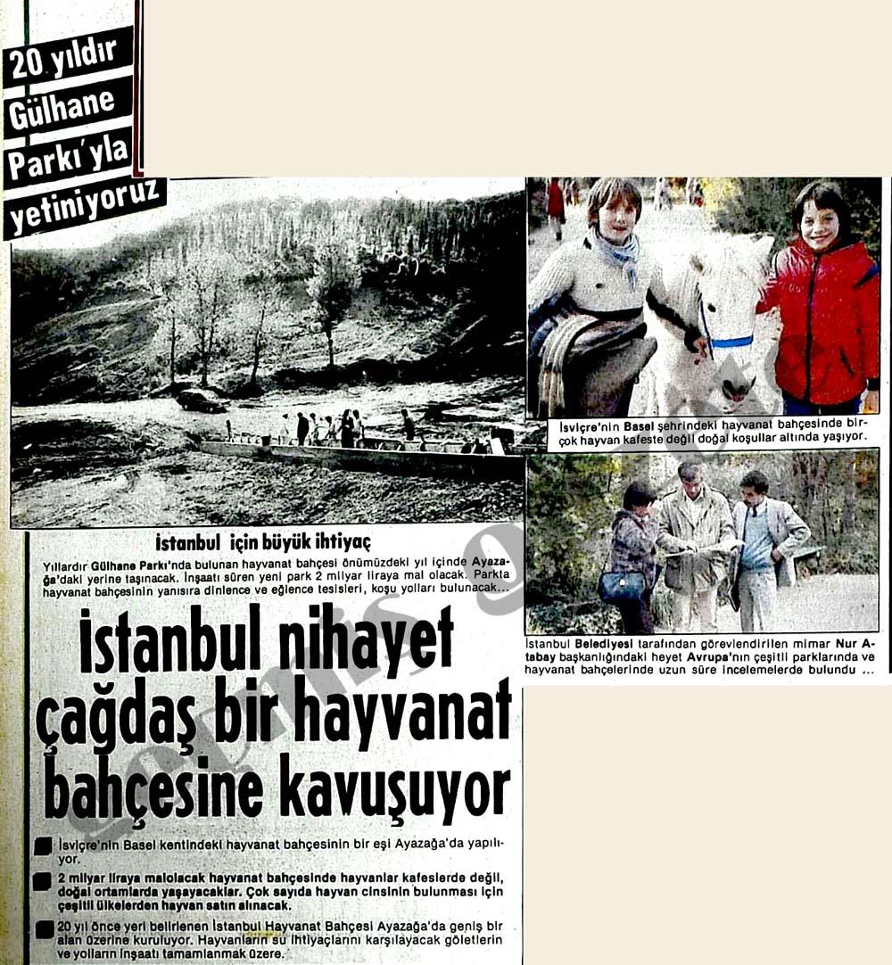 İstanbul nihayet çağdaş bir hayvanat bahçesine kavuşuyor