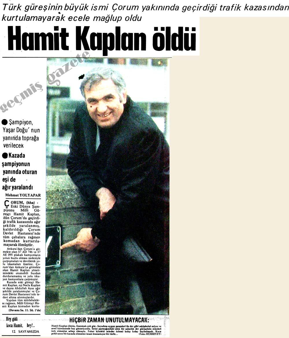 Hamit Kaplan öldü