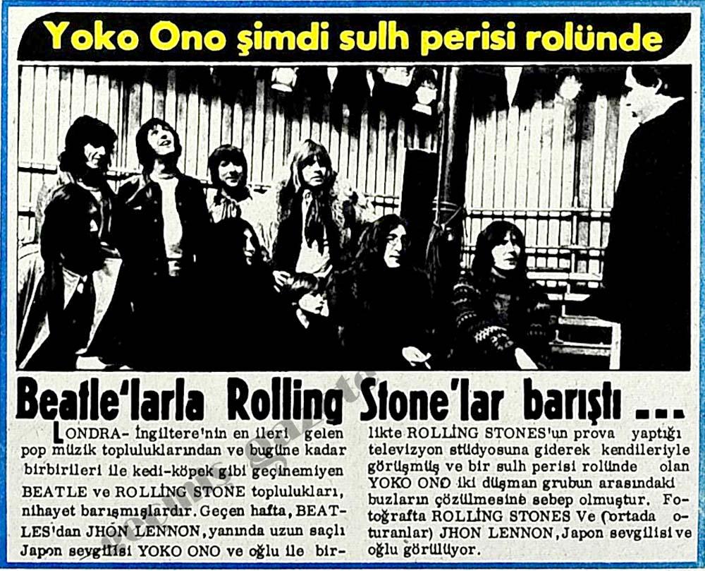 Beatle'larla Rolling Stone'lar barıştı...