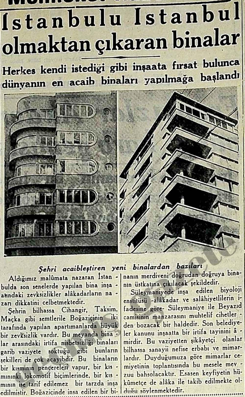 İstanbulu İstanbul olmaktan çıkaran binalar