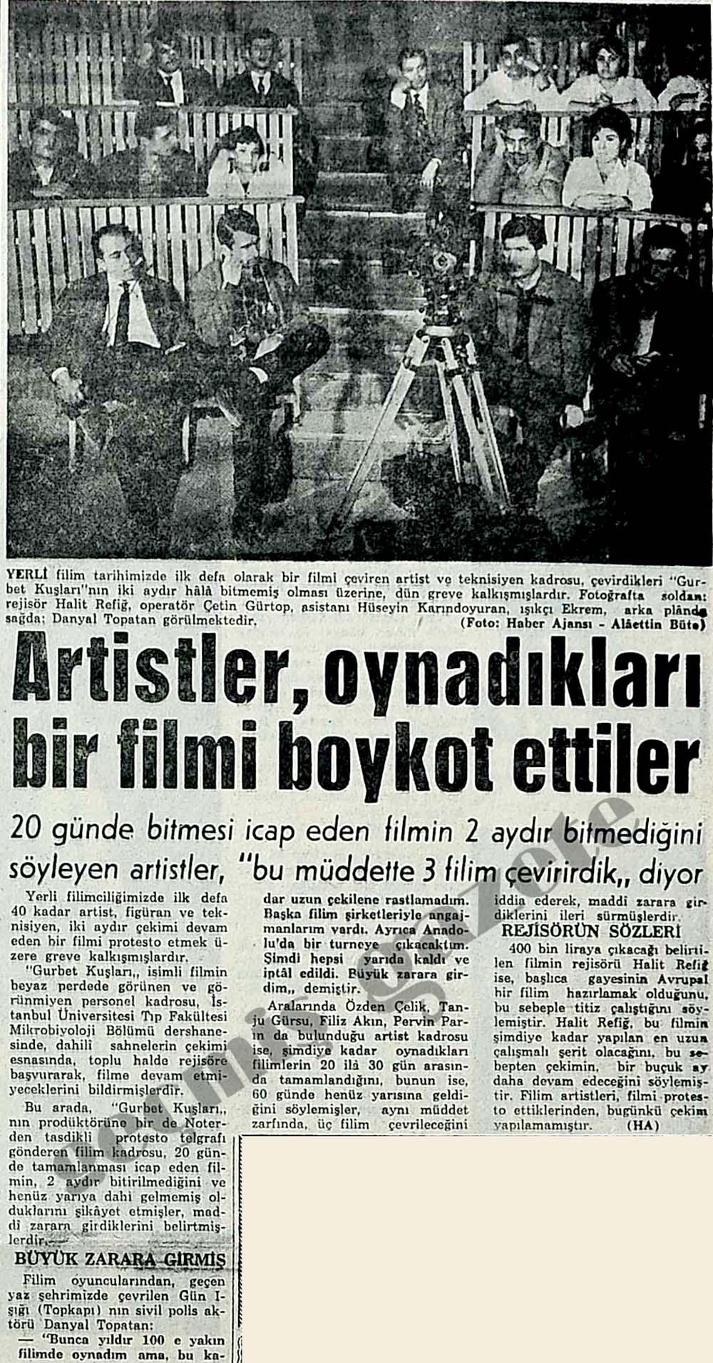 Artistler, oynadıkları bir filmi boykot ettiler