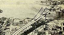 İki kıt'ayı birbirine bağlıyacak asma köprü