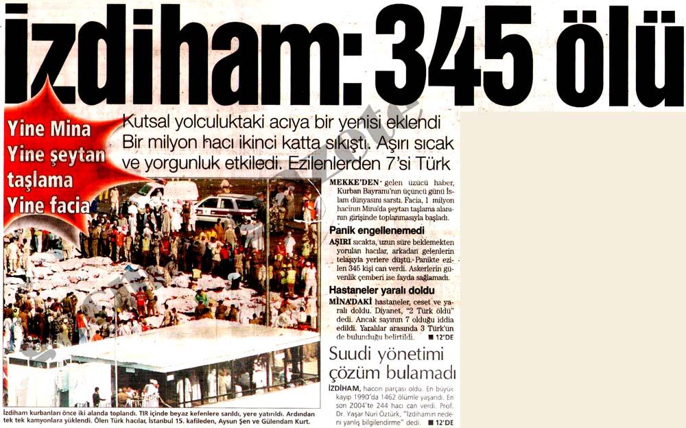 Hacda facia 345 ölü