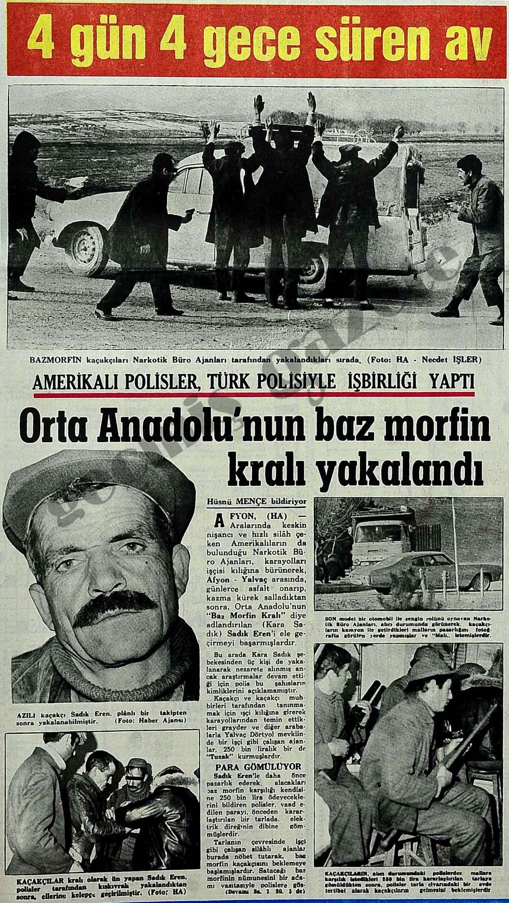 Orta Anadolu'nun baz morfin kralı yakalandı