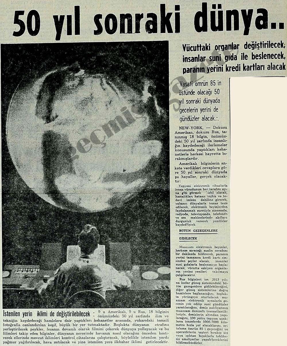 50 yıl sonraki dünya..