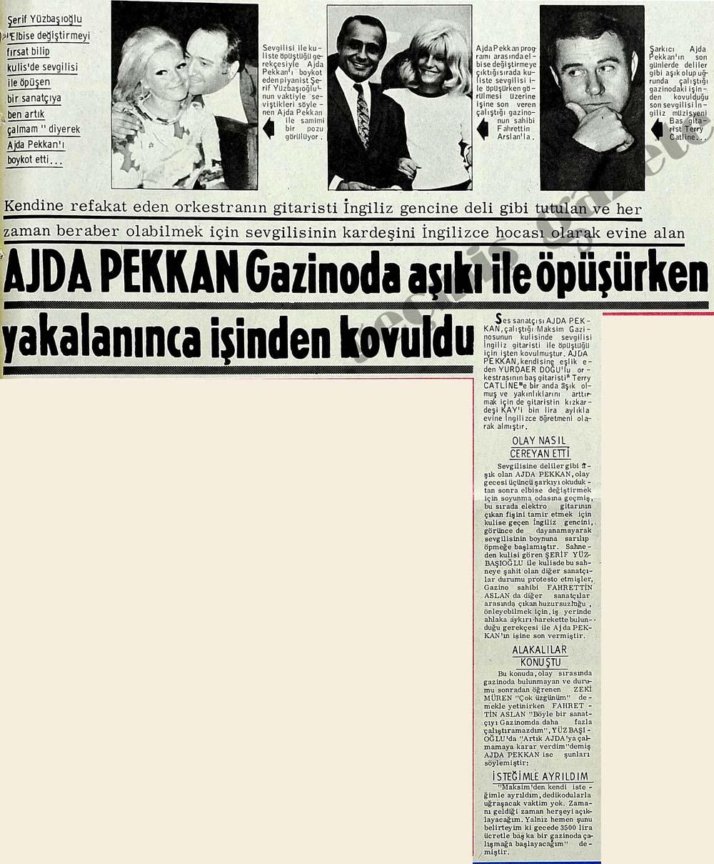 Ajda Pekkan Gazinoda aşıkı ile öpüşürken yakalanınca işinden kovuldu