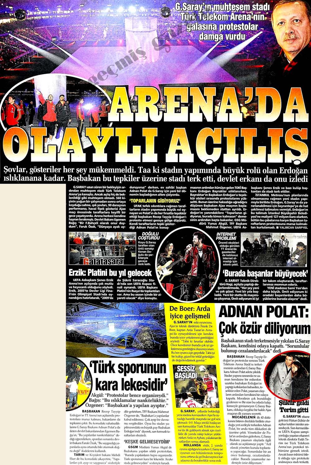 Arena'da olaylı açılış