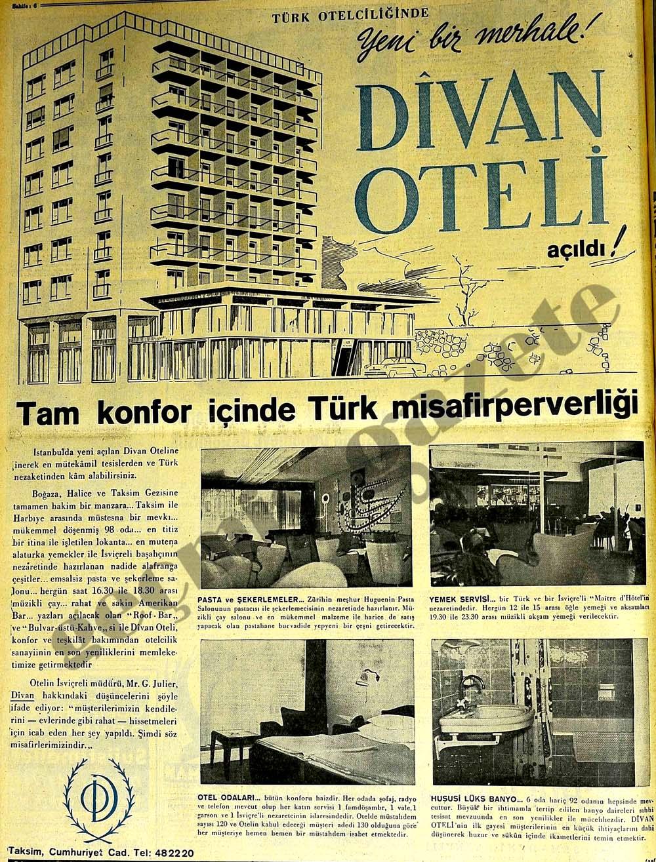 Yeni bir merhale! Divan Oteli açıldı!