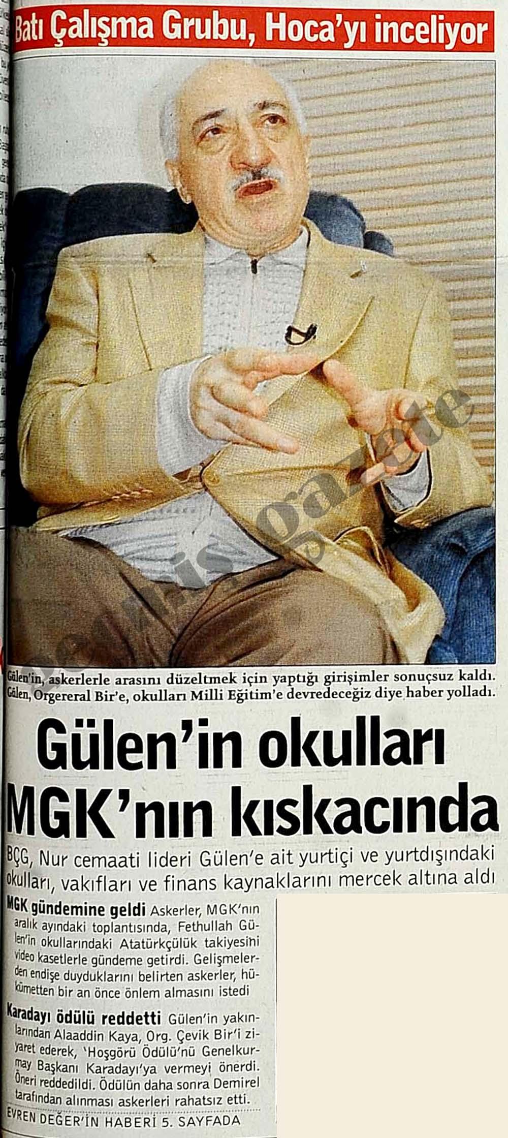 Gülen'in okulları MGK'nın kıskacında