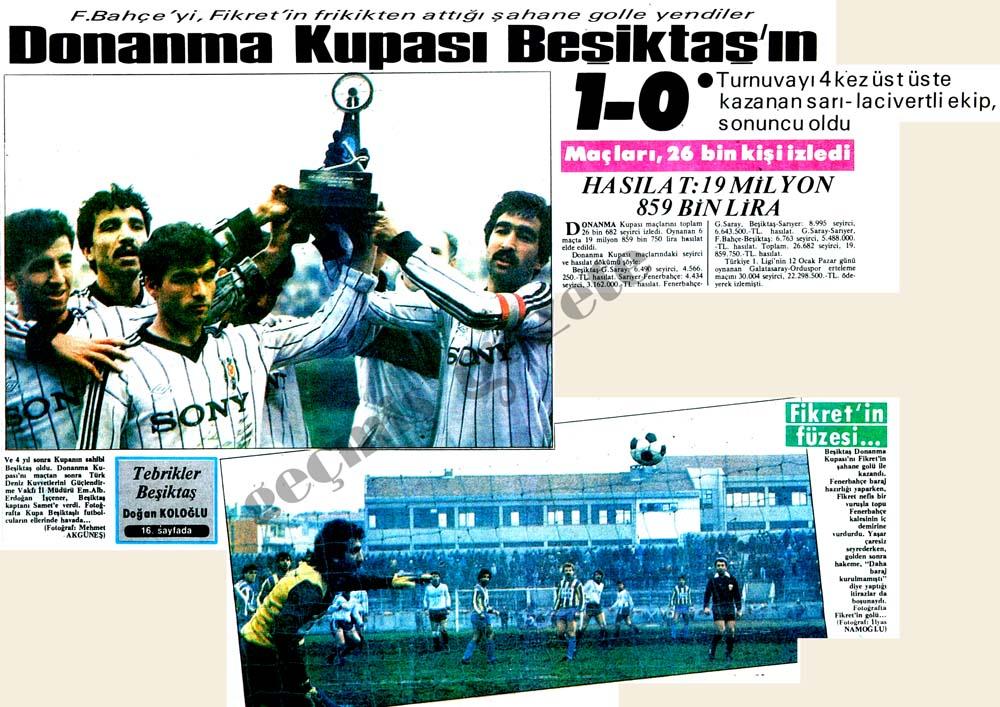 Donanma Kupası Beşiktaş'ın