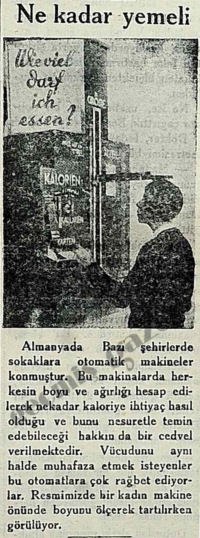 Almanyada Bazı şehirlerde otomatik makineler konmuştur