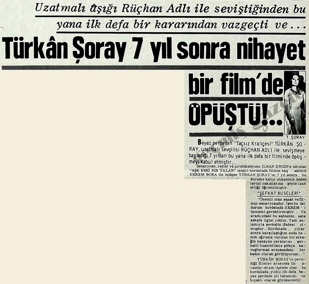 Türkan Şoray 7 yıl sonra nihayet bir film'de Öpüştü!..