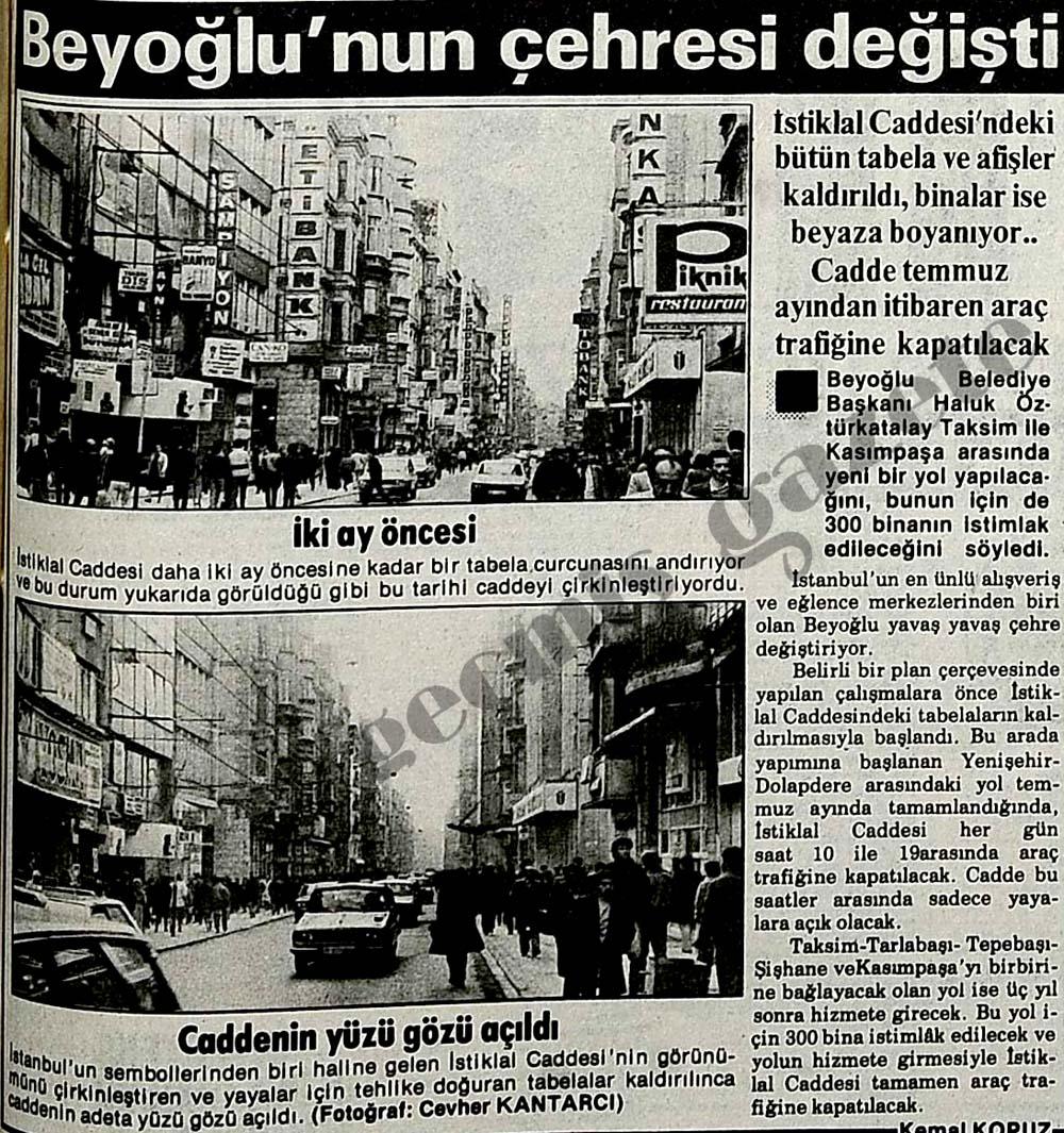 Beyoğlu'nun çehresi değişti