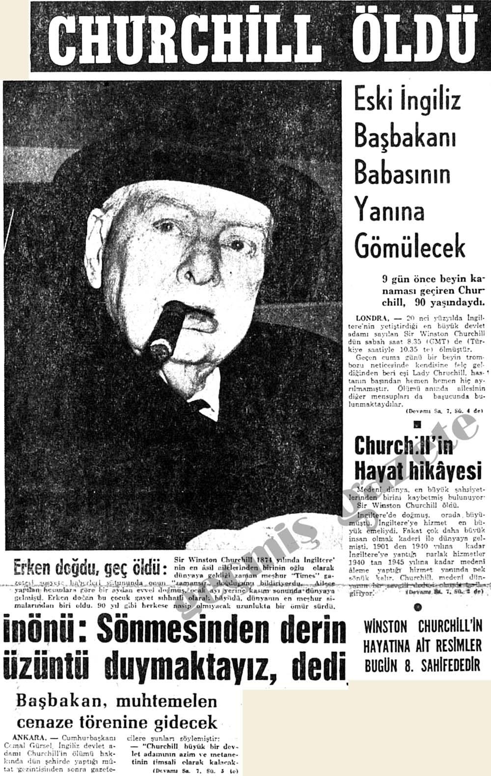 Churchill öldü