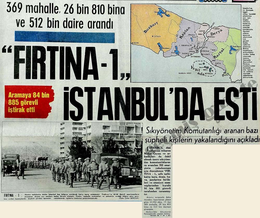 """FIRTINA-1"" İstanbul'da esti"