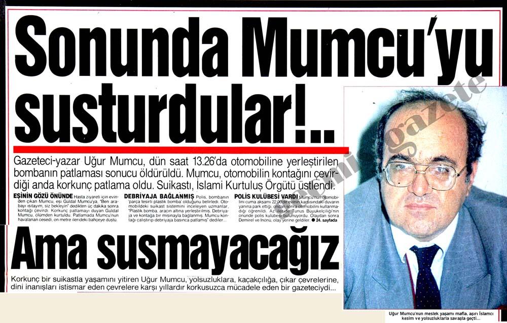 Sonunda Mumcu'yu susturdular!..