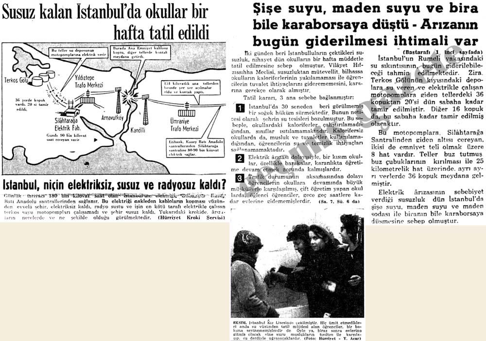 Susuz kalan İstanbul'da okullar bir hafta tatil edildi